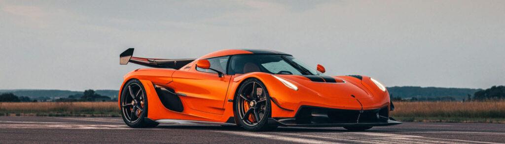 Orange Koenigsegg Jesko